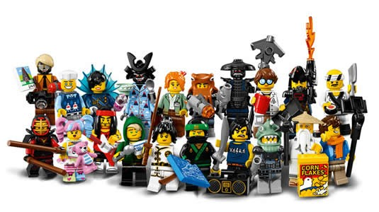 Lego minifiguren serie Ninjago Movie