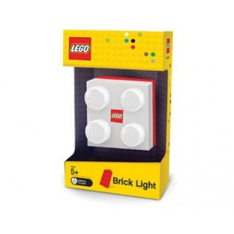 Lego steen lamp 12857 wit/rood